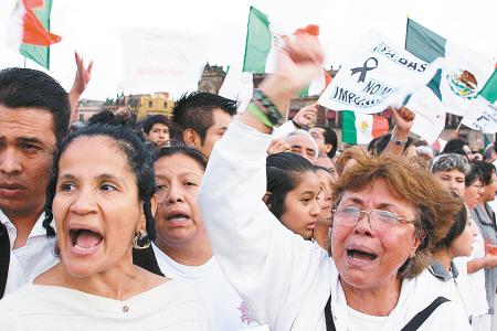 15万墨西哥人穿白衣示威