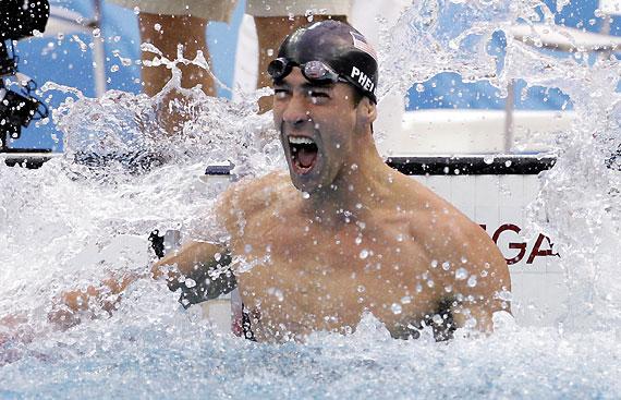 菲尔普斯伟绩征服奥运三大传奇 施皮茨:他比我强