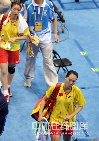 图文-羽毛球女子双打赛况 杨维张洁雯遗憾的离开