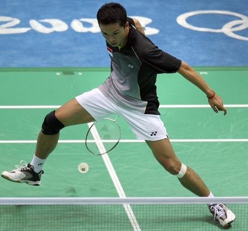 图文-奥运羽毛球精彩瞬间回顾 这样回球技术高