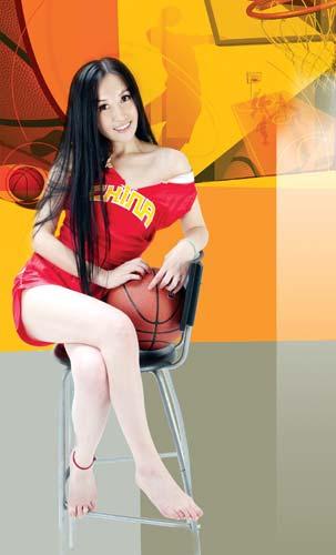 图文-美女CEO做性感篮球宝贝 美腿玉脚勾魂