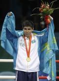 图文-[奥运]拳击男子69公斤 站在最高的领奖台