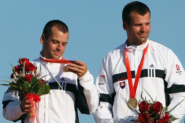 图文-激流回旋男子双人划艇 斯洛伐克组合幸运夺金
