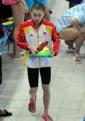 图文-中国游泳队备战08奥运 李玄旭准备训练