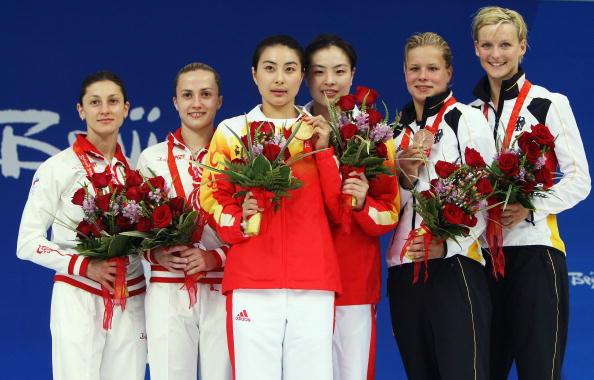 图文-女子双人3米跳板决赛 郭吴引领跳水群芳
