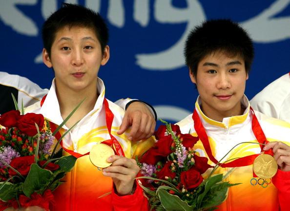 图文-男子双人10米台跳水 林跃/火亮年轻组合