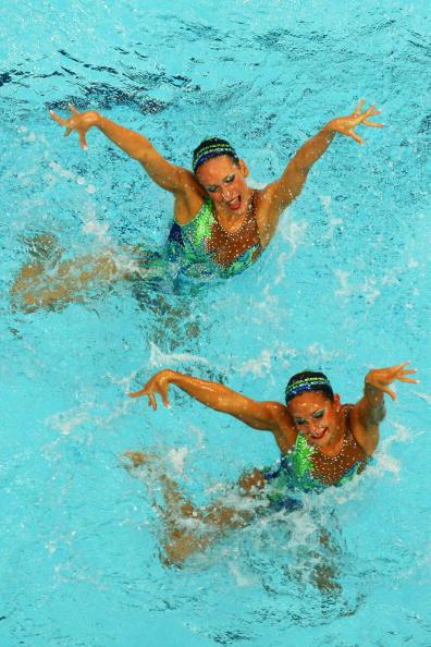 图文-奥运会花样游泳自由自选预赛 活力四射