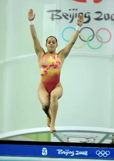 图文-女子10米跳台半决赛 墨西哥选手奥尔蒂斯