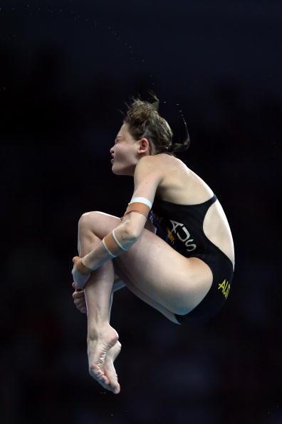 图文-奥运女子10米跳台决赛 澳洲选手空中转身