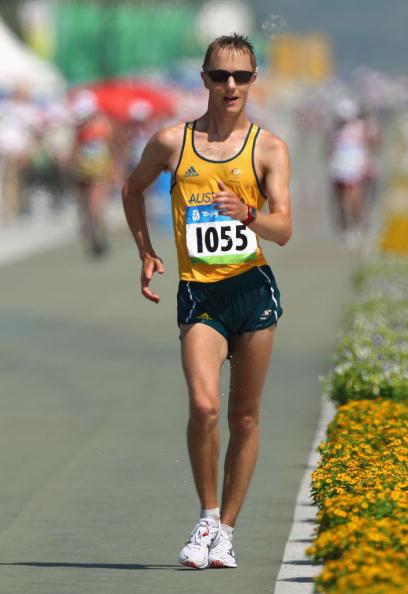 图文-田径男子20公里竞走决赛 亚军澳大利亚选手