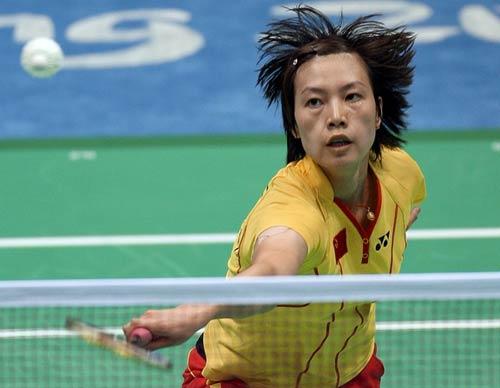 图文-中国锁定羽毛球女单金牌 谢杏芳果断出击