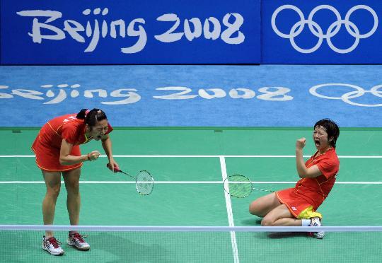 图文-魏轶力张亚雯获女双铜牌 铜牌同样值得庆祝