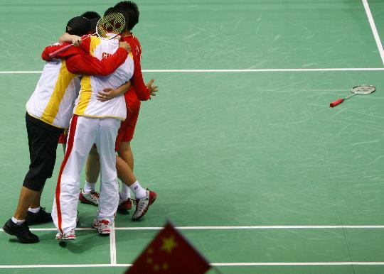 图文-于洋杜婧羽毛球女双夺金 这是一个难忘日