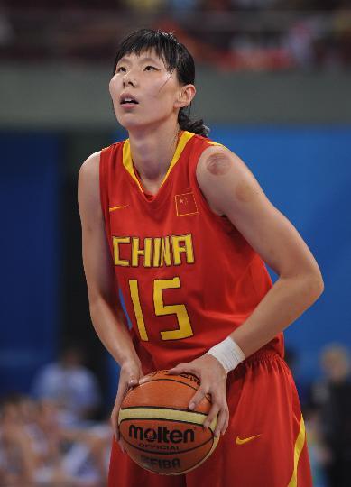 图文-[奥运会]中国女篮80-63新西兰 陈楠罚球