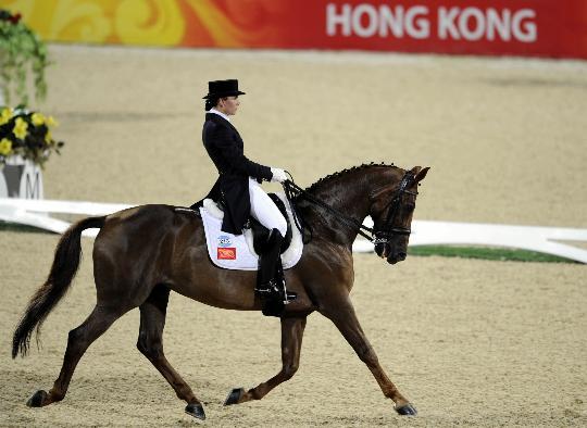 图文-奥运马术选手刘丽娜 中国首次角逐盛装舞步