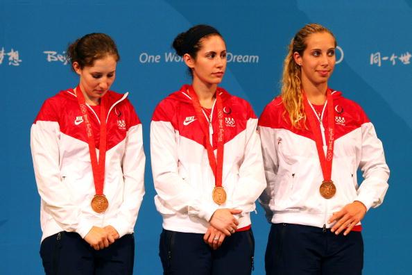 图文-8月14日奥运击剑赛场瞬间 美国队获季军