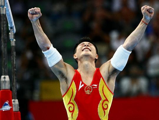 李小鹏再超李宁纪录 奥运第四金成中国体操第一人
