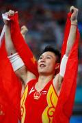 图文-奥运会男子体操双杠决赛 李小鹏梦圆奥运