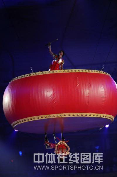 图文-北京奥运会闭幕式现场 一上一下鼓声震天