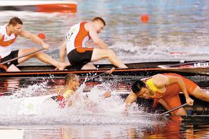 划艇2冠军做搭档不做朋友 再多100米后果不堪想象