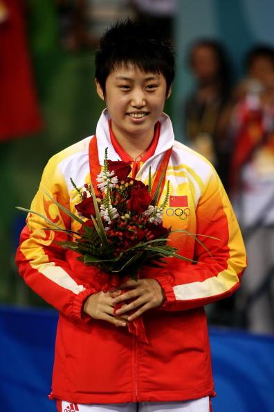 图文-奥运会女子单打决赛 郭跃获得比赛铜牌