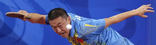 图文-乒乓球男单决赛马琳夺金 大鹏展翅之功