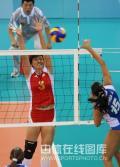 图文-中国女排3-0委内瑞拉 杨昊单人拦网