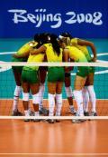 图文-女排半决赛中国0-3巴西 巴西女排实力不俗