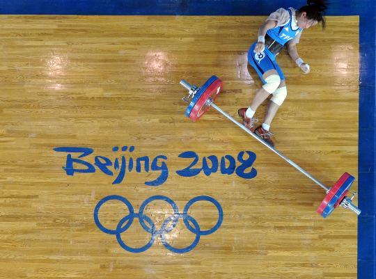 图文-中华台北选手获铜牌 陈苇绫在比赛中试举失败