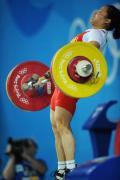 图文-女子58公斤级决赛 陈艳青在在比赛中