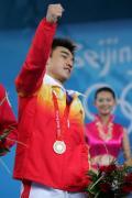 图文-举重男子69公斤级比赛 廖辉展现无限自信