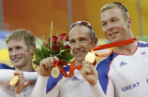 场地自行车男团英国夺冠