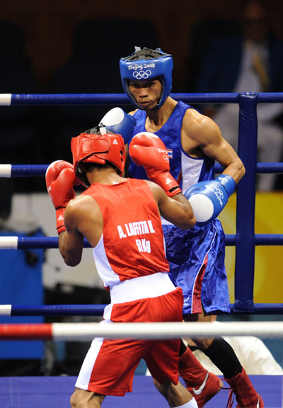 Jongjohor wins first boxing gold of Beijing Olympics