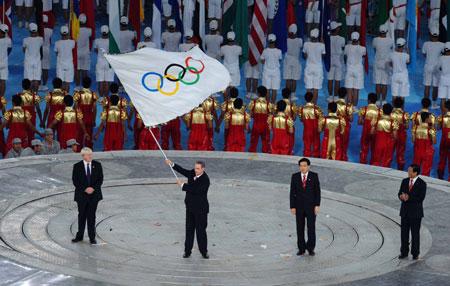 Beijing transmet le drapeau olympique à Londres
