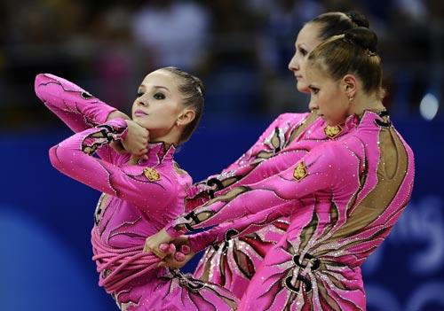 图文-奥运艺术体操精彩回顾 粉色的花朵盛开