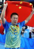 图文-中国金牌英雄榜 第49金-乒乓男单马琳夺冠