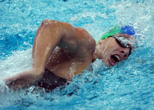 图文-男子400米个混合泳决赛赛况 佩雷拉在决赛中