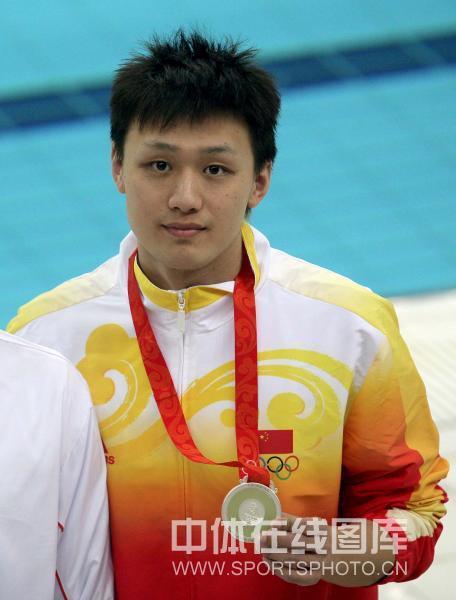 图文-男子400米自由泳张琳获银牌 这块奖牌创历史