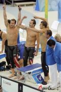 图文-男子4x100米混合泳接力 胜利属于我们