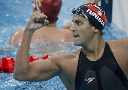 图文-男子1500米自由泳决赛 突尼斯黑马