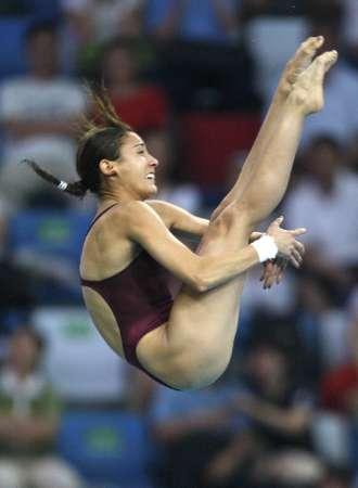 图文-女子跳水单人十米跳台半决赛 埃斯皮诺萨