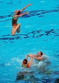 图文-花样游泳团体赛俄罗斯夺金 澳大利亚倾情表演