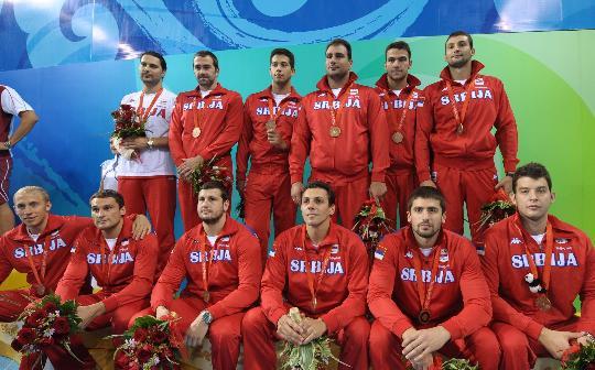 图文-奥运会男子水球匈牙利夺冠 塞尔维亚获铜牌