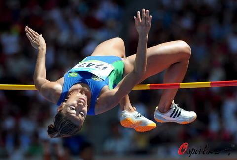 图文-七项全能各国选手激烈竞争 柔韧有余
