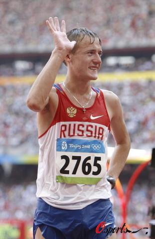 图文-北京奥运会男子20公里竞走 博尔坎全身湿透