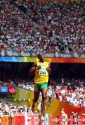 图文-奥运会男子200米预赛 牙买加选手跑过终点