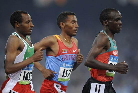 图文-奥运会男子5000米预赛 肯尼亚队员领跑
