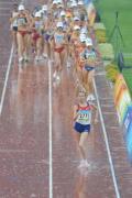 图文-女子20公里竞走雨中开赛 俄罗斯选手一马当先
