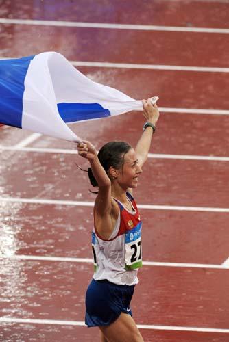 图文-女子20公里竞走决赛 胜利属于俄罗斯