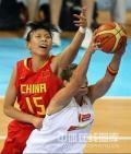 图文-[奥运会]中国女篮67-64西班牙 陈楠精彩封盖